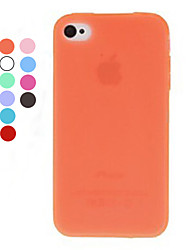 Color sólido caso suave de TPU para el iPhone 4/4S (colores surtidos)