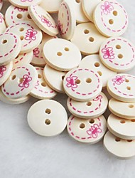 Bowknot Pattern Scrapbook Scraft Sewing DIY Wooden Buttons(10 PCS)