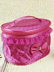 Women's Oval Lace Nylon Cosmetic Bag(Random Color)