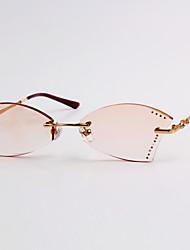 [Lenti liberi] lega di titanio cat-eye occhiali da vista cristallo rimless