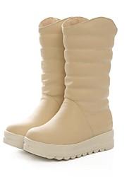botas zapatos botas de nieve de las mujeres de tacón bajo a media pierna más colores disponibles