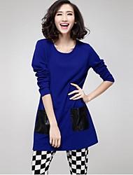 Robe Aux femmes Grandes Tailles Grandes Tailles / Décontracté Mini Mélanges de Coton