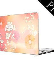 "Case for Macbook Pro 13.3""/15.4"" Flower Plastic Material Lovely Flower Design Full-Body Protective Plastic Case"