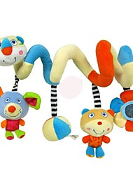 Babyfans ™ Baby Cute Animal Pattern Plush Rattles Hanging Around The Bed Toys