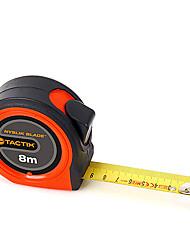 8mx25mm ruban à mesurer métrique ruban à mesurer abs + en acier inoxydable avec certificat mi Tactix
