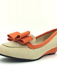 Zapatos de mujer - Tacón Bajo - Tacones - Tacones - Vestido - Semicuero - Beige / Naranja