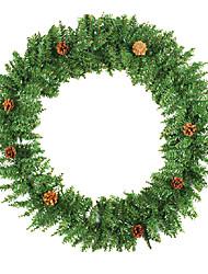 """32 """"de gran tamaño decoración de navidad guirnalda de pino, pvc"""