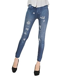 leggings delgados elásticos de las mujeres