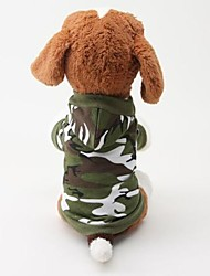 Dog Hoodie Dog Clothes Fashion Camouflage Green Blushing Pink