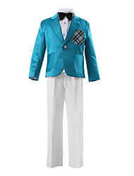 Blue Polyester Ring Bearer Suit - 3 Pieces
