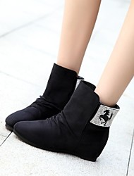 Women's Shoes Round Toe Low Heel Leather Ankle Boots More Colors available