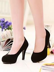 zapatos de las mujeres de las bombas del dedo del pie zapatos de tacón de aguja redonda más colores disponibles
