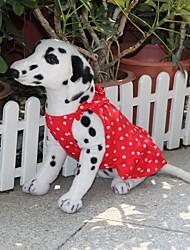 Dog Dress Red Summer Polka Dots