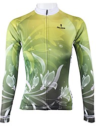 ILPALADINO Cycling Jersey Women's Long Sleeve Bike Jersey Tops Quick Dry Breathable 100% Polyester Floral / BotanicalSpring Summer