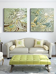 Stretched Canvas Art Women Spend Abstract  Decorative Painting Set of 2
