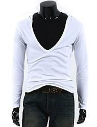 Men's Autumn Paragraph Mens Long Sleeve Hooded T-shirt