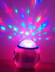 Fashion Star éblouissement projection de couleur lumineuse de réveil conduit