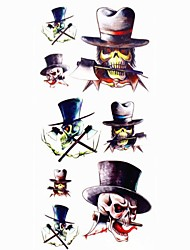 1pc Death Cartoon Waterproof Tattoo Sample Mold Temporary Tattoos Sticker for Body Art(18.5cm*8.5cm)