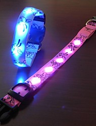 Fashion and Highlight Safety LED Flash Collar for Dogs(Assorted Size,Assorted Color)
