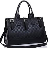das mulheres Feige o fg166 pacote saco xadrez amarrada preto