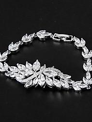 Women's Tennis Bracelet Platinum Cubic Zirconia