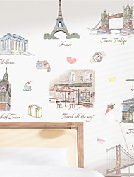 Grand PVC World Building Wall Stickers