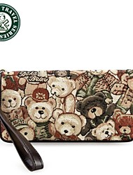 DAKA BEAR ® Wonmens Simple and Lovely Purse Large Zip Wallet