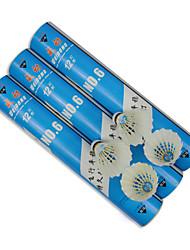 12 pz Weidong n.6 durevole palle drake piuma di badminton