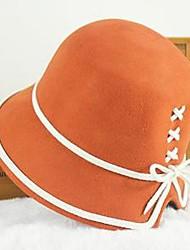 женская регулируемая британский стиль флота шерстяные шляпы