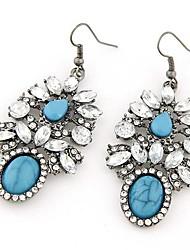 European Style Fashion Metal Shining Gem Earrings