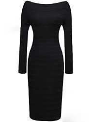 Women's Bodycom Long Sleeve Bandage Dress