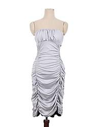 club de muchacha de la ropa de las mujeres de color gris sexy vestido palabra de honor de hombro bodycon vestido fruncido partido del vendaje 2205