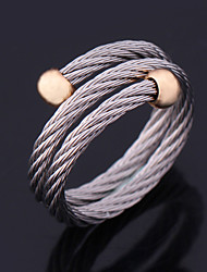 New Cool Unisex 316L Stainless Steel Wrape Band Ring 18K Gold Plated Jewelry Gift High Quality