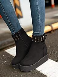damesschoenen platform ronde neus sleehak enkellaarsjes met strass meer kleuren beschikbaar