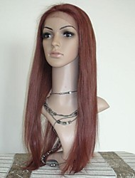 20 Inch Red Brown Lace Front Wig 100% Human Hair