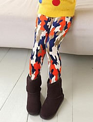 Girl's Multi-color Leggings,Print Cotton Blend Winter / Spring / Fall