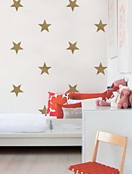 JiuBai® Gold Star Wall Sticker Wall Decal,15CM/Heart, 16Stars/Set