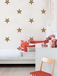 ouro jiubai® parede estrela adesivos de parede decalque, 15cm / coração, 16stars / set