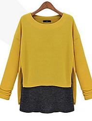 Women's round collar Round Collar Stitching Shirts