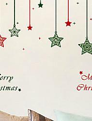 """frohe weihnachten cartoon Zwinkern Sternen Fensteraufkleber (29.52 """"w × 27,6"""" l)"""