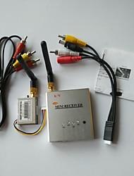 FPV 2.4G 200mW 4 canaux sans fil av audio vidéo récepteur tranmsitter