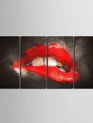 esticadas arte da lona tentação lábios set pintura decorativa de 4