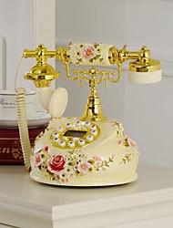 haoxinyi® nouveauté moderne téléphone à la maison victoria jardin de style romantique rose polyrésine avec affichage id