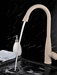 Contemporary Painting Finish Brass One Hole Single Handle Rotatable Kitchen Faucet