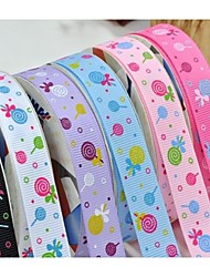 3/8 Inch Lollipop Pattern Rib Ribbon Printing Ribbon- 25 Yards Per Roll (More Colors)