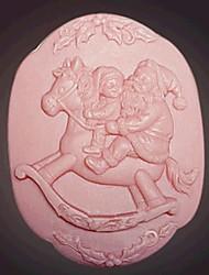 christmas santa claus outils fondant gâteau au chocolat silicone moule à cake de décoration, l8.2cm * w8.2cm * h4cm