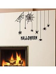 stickers muraux de décalcomanies murales, des araignées Halloween cite décoration murale mur de PVC autocollants