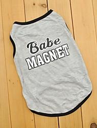 Gatto Cane T-shirt Abbigliamento per cani Cosplay Matrimonio Lettere & Numeri Grigio