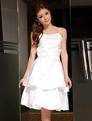 moda elegante na altura do joelho vestido de dama de honra / casamento vestido de festa das mulheres