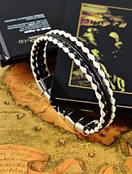 vintage mannen assorti kleuren pu lederen armbanden